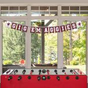 Banner Pennant Flag String for Texas A&M University Aggies