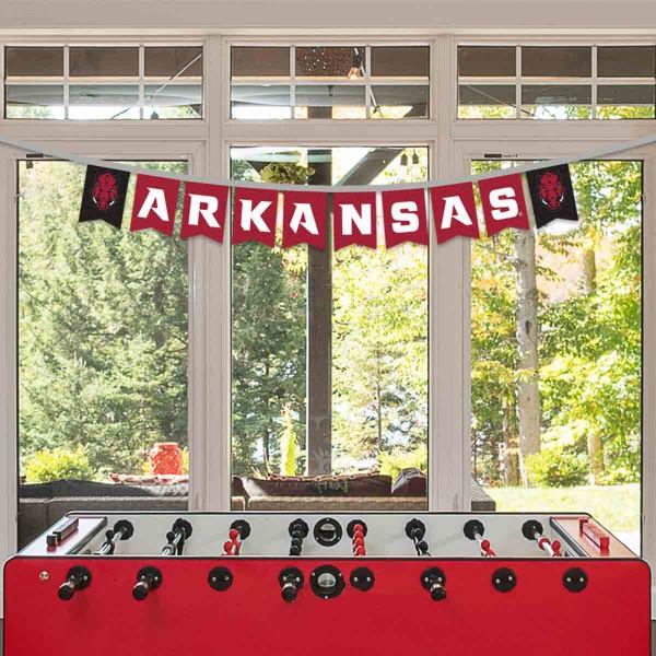 Banner Pennant Flag String for University of Arkansas Razorbacks