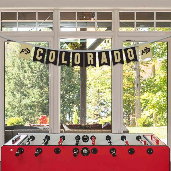 Banner Pennant Flag String for University of Colorado Buffaloes
