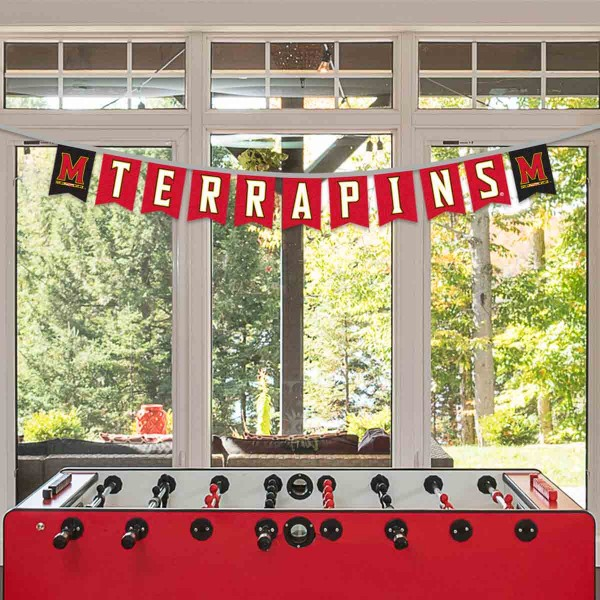 Banner Pennant Flag String for University of Maryland Terrapins