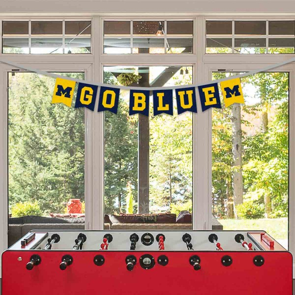 Banner Pennant Flag String for University of Michigan Wolverines