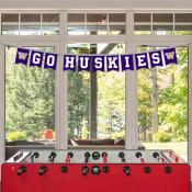 Banner Pennant Flag String for University of Washington Huskies