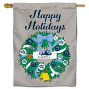 Baruch College Bearcats Christmas Holiday House Flag