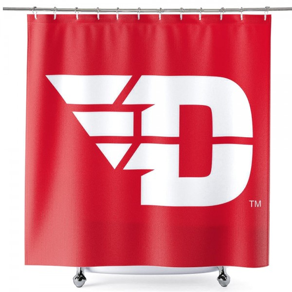 Bathroom Shower Curtain for Dayton Flyers