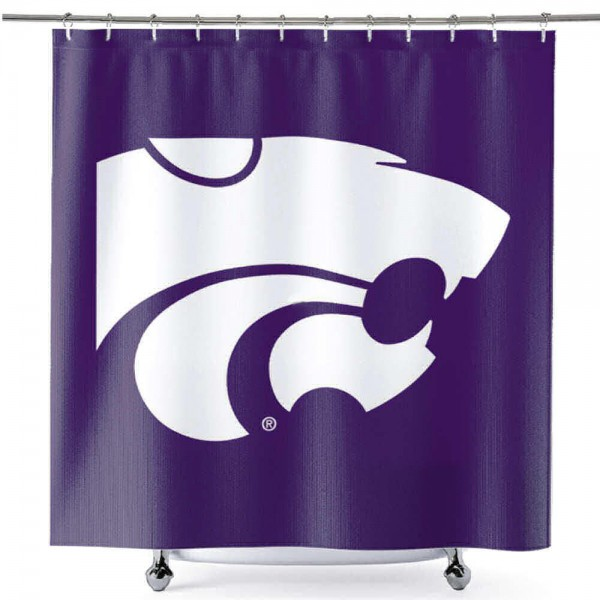 Bathroom Shower Curtain for Kansas State Wildcats