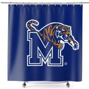 Bathroom Shower Curtain for Memphis Tigers