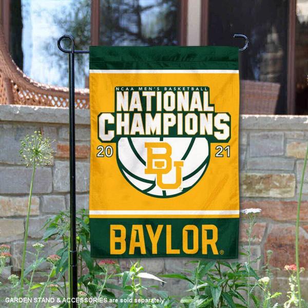 Baylor Bears 2021 Basketball National Champs Double Sided Garden Flag
