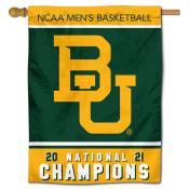Baylor Bears Mens Basketball National Championship House Flag