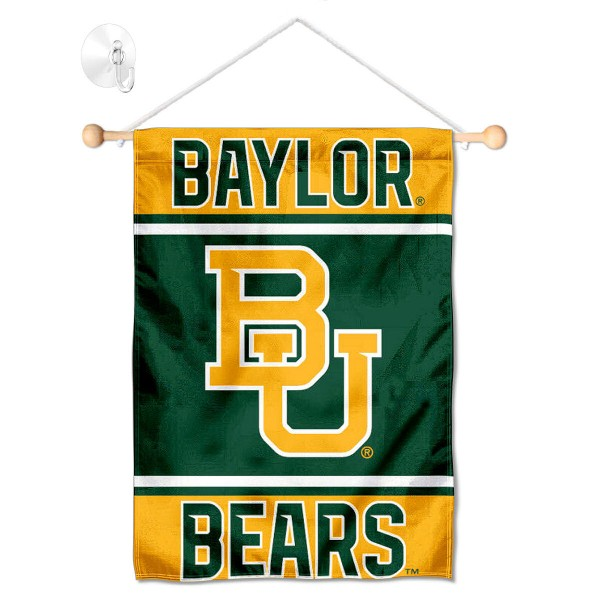 Baylor Bears Window Hanging Banner with Suction Cup