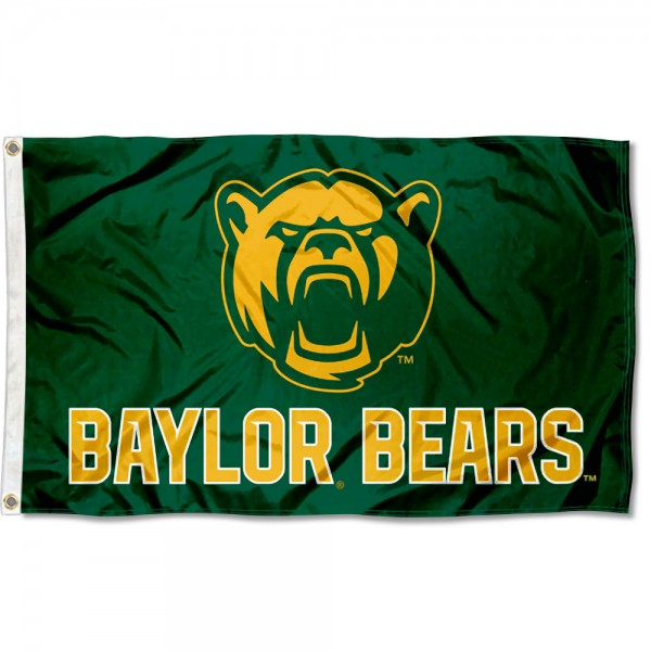 Baylor BU Bears Bear Head Flag