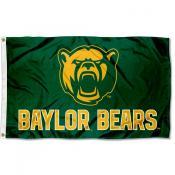 Baylor BU Bears Bear Head Flag
