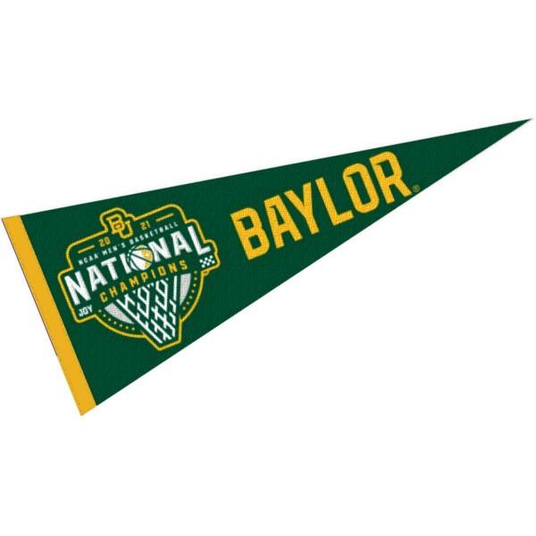 Baylor BU Bears College Basketball 2021 National Champions Pennant