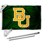 Baylor BU Bears Flag and Bracket Flagpole Set