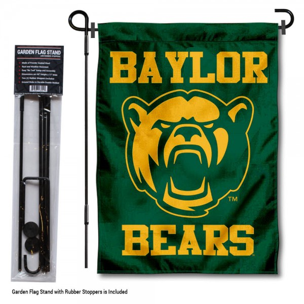Baylor BU Bears Garden Flag and Holder