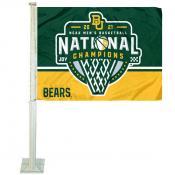 Baylor BU Bears Mens Basketball 2021 National Champions Car Flag