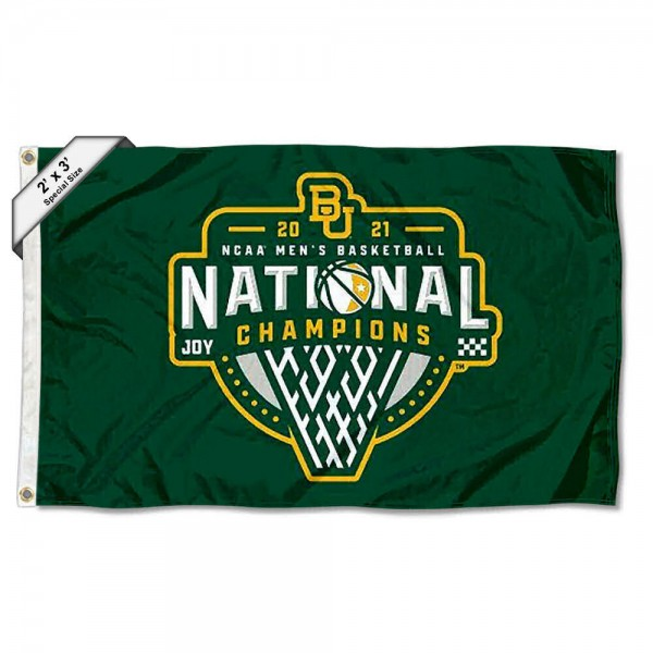 Baylor BU Bears Mens Basketball National Champions 2x3 Flag