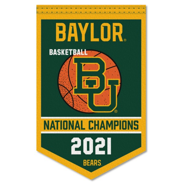 Baylor BU Bears Mens College Basketball National Championship Banner