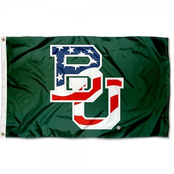 Baylor BU Bears Stars and Stripes Flag