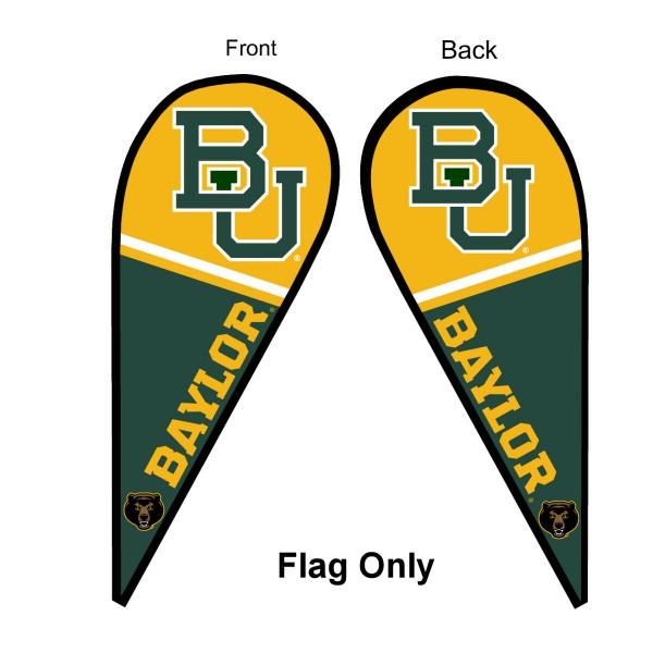 Baylor BU Bears Teardrop Flag
