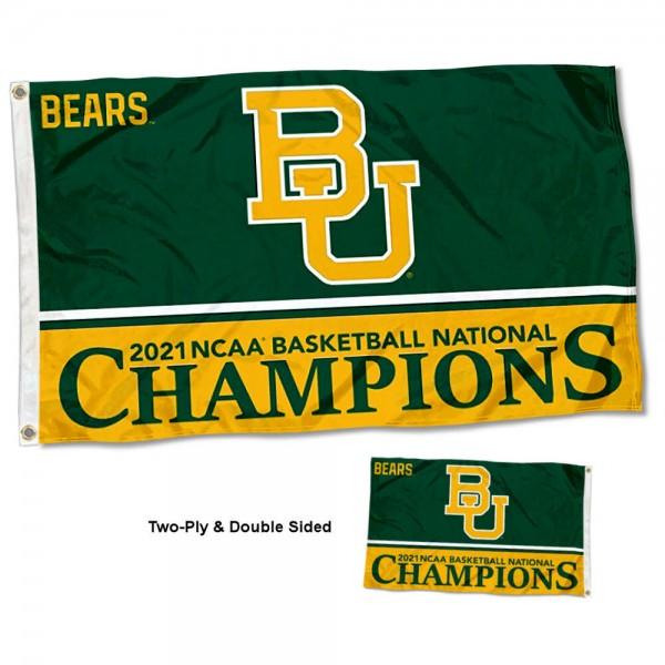 Baylor BU Bears Two Sided Mens Basketball Champions 3x5 Foot Flag