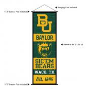 Baylor BU Bears Wall Banner and Door Scroll
