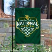 Baylor University 2021 Mens Basketball National Champs Double Sided Garden Flag