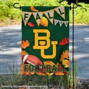 Baylor University Bears Fall Leaves Football Double Sided Garden Banner