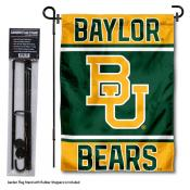 Baylor University Garden Flag and Yard Pole Holder Set