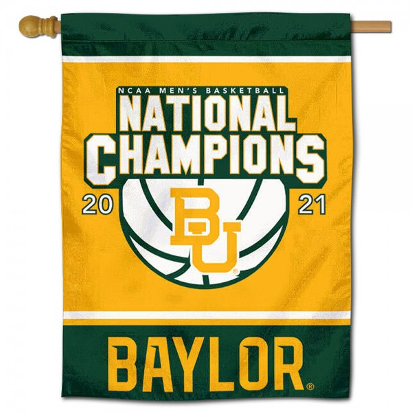 Baylor University Mens Basketball National Championship Banner Flag