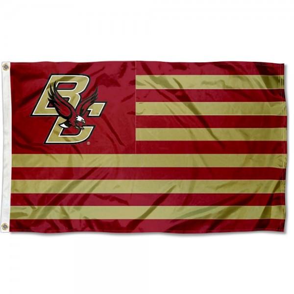 BC Eagles American Nation Flag