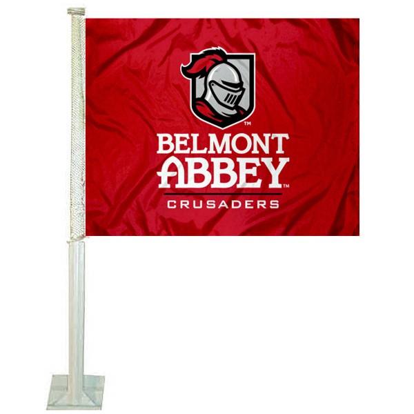 Belmont Abbey Car Flag