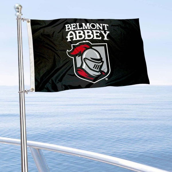 Belmont Abbey Crusaders Boat Nautical Flag