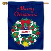 Belmont Bruins Christmas Holiday House Flag