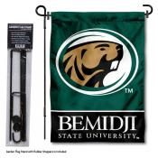 Bemidji State Beavers Garden Flag and Yard Pole Holder Set