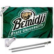 Bemidji State Logo Flag and Bracket Flagpole Kit