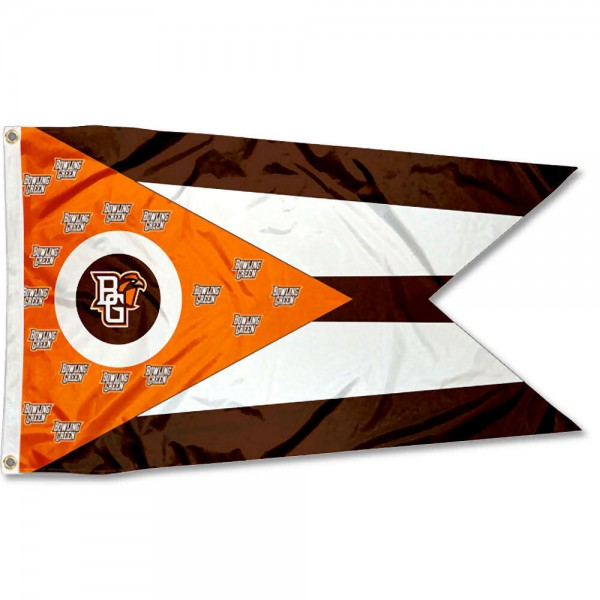 BGSU Falcons OH State Shaped Flag