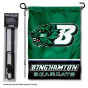 Binghamton Bearcats Garden Flag and Yard Pole Holder Set