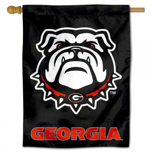 Black Georgia Bulldogs House Flag