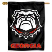 Black Georgia Bulldogs House Flag
