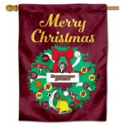 Bloomsburg Huskies Christmas Holiday House Flag