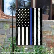 Blue Thin Line Emergency Medical Services Yard Garden Banner