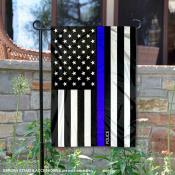 Blue Thin Line Police Yard Garden Banner
