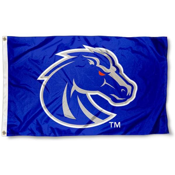 Boise State Bronco Logo Flag