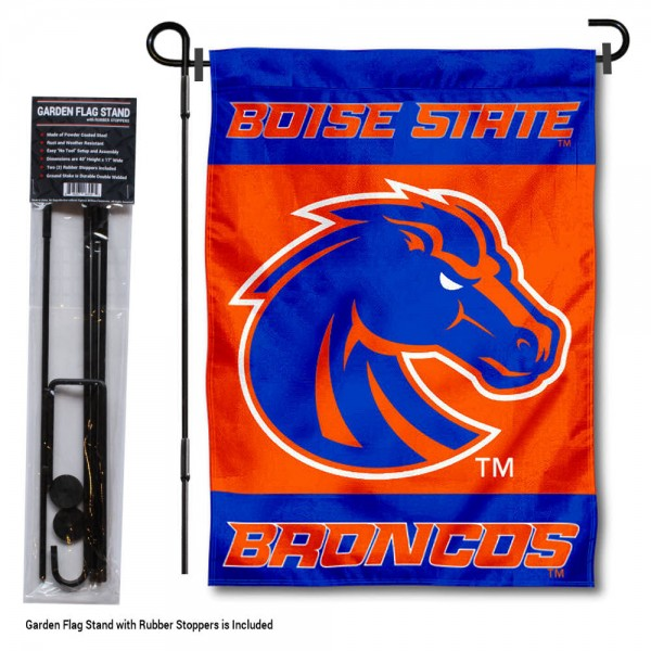 Boise State Broncos Garden Flag and Holder