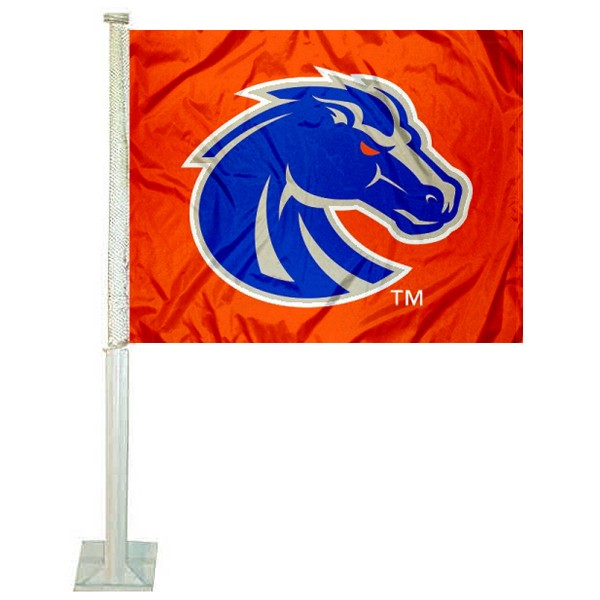 Boise State Orange Car Flag