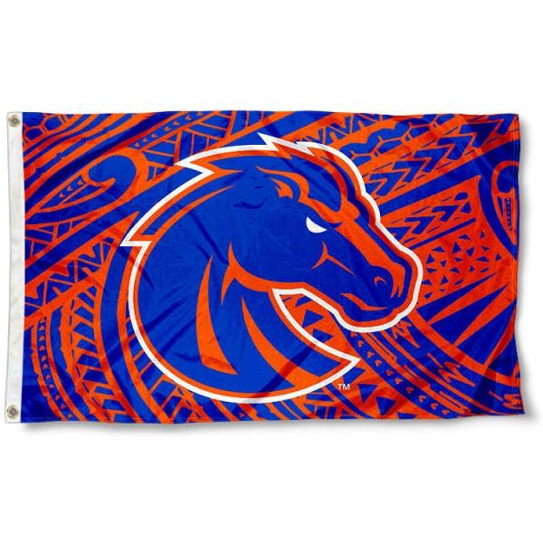 Boise State Samoan Pattern Flag