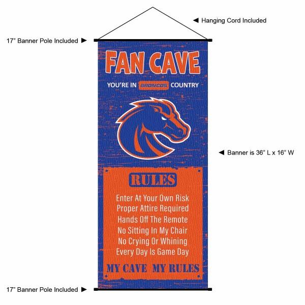 Boise State University Broncos Man Cave Fan Dorm Wall Banner