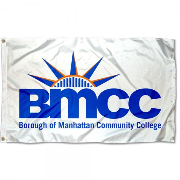 Borough of Manhattan College Panthers Logo Flag