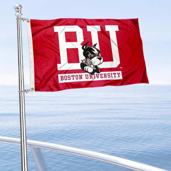 Boston BU Terriers Boat Nautical Flag