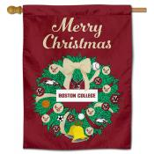 Boston College Eagles Christmas Holiday House Flag